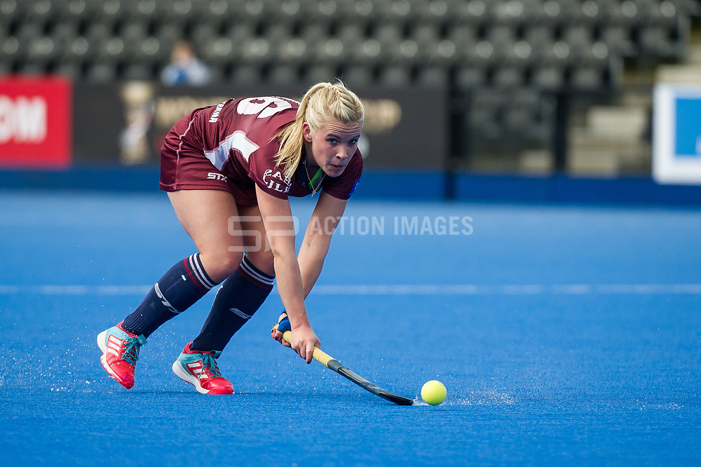 Wimbledon's Mairi Drummond. Wimbledon v Buckingham - Investec Women's Hockey League Finals, Lee Valley Hockey & Tennis Centre, London, UK on 23 April 2017. Photo: Simon Parker