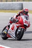 Takaaki Nakagami of Japan and Idemitsu Honda Asia Team rides during free practice for the Moto2 of Catalunya at Circuit de Catalunya on June 9, 2017 in Montmelo, Spain.(ALTERPHOTOS/Rodrigo Jimenez)