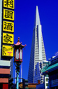 Image of the Transamerica Pyramid and Chinatown in San Francisco, California
