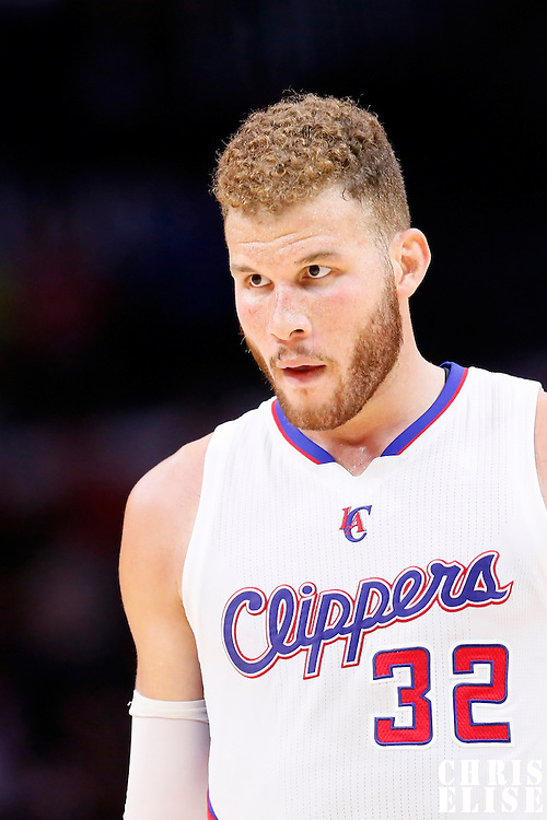 20 March 2015: Los Angeles Clippers forward Blake Griffin (32) is seen during the Los Angeles Clippers 113-99 victory over the Washington Wizards, at the Staples Center, Los Angeles, California, USA.