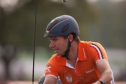 Koos De Ronde, (NED), Bilbo, Palero, Ulano, Zimba, Zimon - Driving Marathon - Alltech FEI World Equestrian Games™ 2014 - Normandy, France.<br /> © Hippo Foto Team - Dirk Caremans<br /> 06/09/14