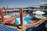 Royal Caribbean International's  Independence of the Seas, the world's largest cruise ship.....Pool area