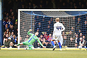 Southend United midfielder Anthony Wordsworth scores the game's first goal (1-0) during the Sky Bet League 1 match between Southend United and Gillingham at Roots Hall, Southend, England on 19 March 2016. Photo by Martin Cole.