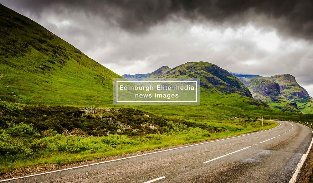 Even on a rainy fourth of July the Three Sisters in Glencoe look impressive.<br /> <br /> (c) Andrew Wilson | Edinburgh Elite media