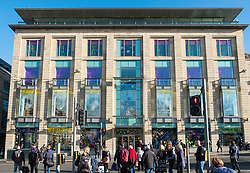 Exterior view of Harvey Nichols store on St Andrews Square in Edinburgh, Scotland, United Kingdom.