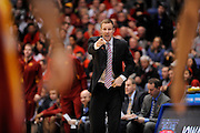 DAYTON, OH - MARCH 24: Head coach Fred Hoiberg of the Iowa State Cyclones looks on from the sideline in the second half against the Ohio State Buckeyes during the third round of the 2013 NCAA Men's Basketball Tournament at UD Arena on March 24, 2013 in Dayton, Ohio. (Photo by Jason Miller/Getty Images)