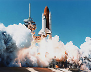Launch of Space Shuttle Columbia from Kennedy Space Center, Florida, 4 April 1997. NASA photograph.