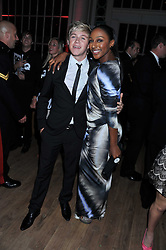 NIALL HORAN and ALEXANDRA BURKE at the GQ Men of the Year 2011 Awards dinner held at The Royal Opera House, Covent Garden, London on 6th September 2011.
