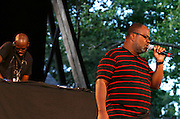 Black Coffee and Kenny Bobien perform at SummerStage on Rumsey Playfield in Central Park in New York City, New York on June 15, 2014.