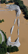 20090922  -  Atlanta, Ga : The roller coaster as Six Flags Over Georgia is swamped by Chattahoochee River flood waters after rains saturated the metro Atlanta area on Tuesday, September 22, 2009. At least eight died in the weather disaster.   David Tulis         dtulis@gmail.com    ©David Tulis 2009