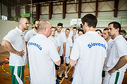 Nejc Visnikar, head coach, Saso Lukic and other players of Slovenian Deaf Basketball team at media day, on June 13, 2016 in GIB Centre, Ljubljana, Slovenia. Photo by Vid Ponikvar / Sportida