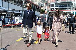 Princess Caroline's son Andrea Casiraghi and his wife Tatiana Santo Domingo with their children Sacha and India attending the 75th Monaco F1 Grand Prix, in Monte-Carlo, Monaco on May 28, 2017. Photo by Laurent Zabulon/ABACAPRESS.COM    594661_009 Monte-Carlo Monaco