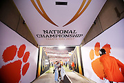 Clemson players head to the field for warmups as they prepare for the National Championship game against Alabama at Raymond James Stadium in Tampa, Monday, January 9, 2017.