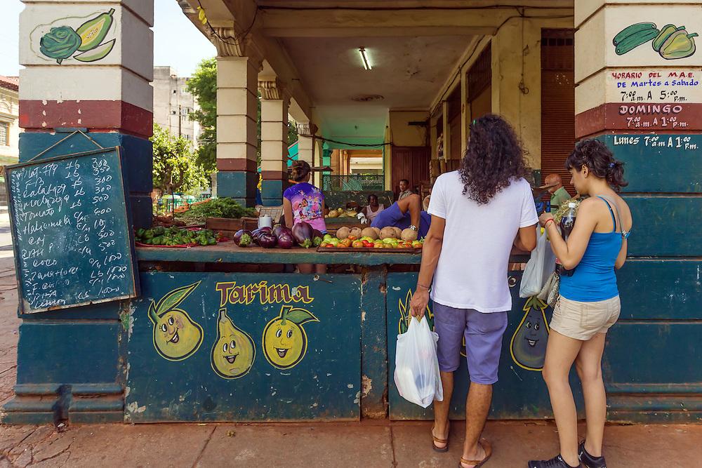 Market in Havana Vedado, Cuba.