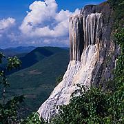 Petrified waterfall in Hierve el Agua. Oaxaca, Mexico.