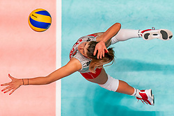 28-05-2019 NED: Volleyball Nations League Bulgaria - Poland, Apeldoorn<br /> <br /> Miroslava Paskova #6 of Bulgaria