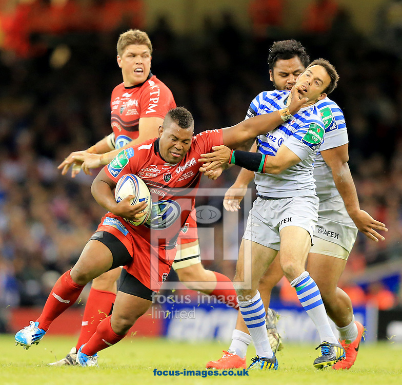 Steffon Armitage of RC Toulon on the charge during the Heineken Cup Final at the Millennium Stadium, Cardiff<br /> Picture by Michael Whitefoot/Focus Images Ltd 07969 898192<br /> 24/05/2014