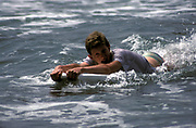 Body-boarding, Pembrokeshire, 1987