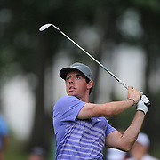 Rory McIlroy in action during the second round of theThe Barclays Golf Tournament at The Ridgewood Country Club, Paramus, New Jersey, USA. 22nd August 2014. Photo Tim Clayton