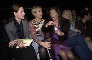 Trinni Woodall, Tania Bryer, Tara Palmer-Tompkinson and Beverley Bloom. Jasper Conran. 22 February 2001. © Copyright Photograph by Dafydd Jones 66 Stockwell Park Rd. London SW9 0DA Tel 020 7733 0108 www.dafjones.com