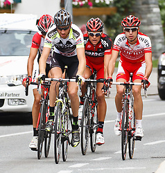 03.07.2011, AUT, Oesterreich Rundfahrt, 1. Etappe, Dornbirn-Goetzis, im Bild Kozonchuk Dimitry (Geox TMC), Van Avermeat Greg (Team Radioshck) und Edet Nicolas (Cofidis, Le Credit en Ligne), during the 63rd Tour of Austria, Stage 1, EXPA Pictures © 2011, PhotoCredit: EXPA/ P.Rinderer