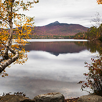 Chocorua Lake framed by fall color, New Hampshire