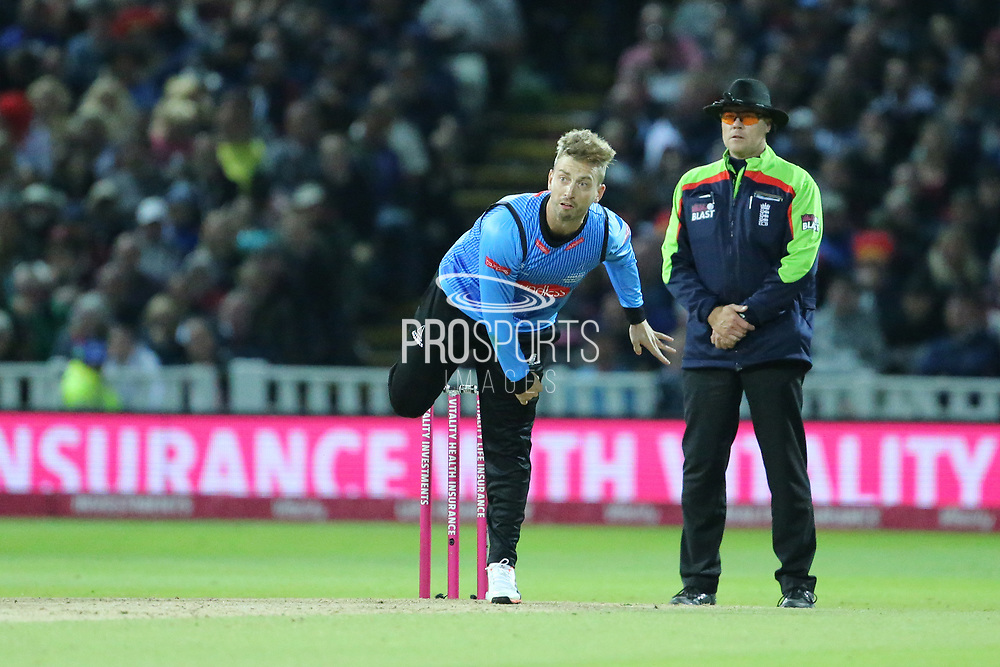Sussex's Will Beer during the final of the Vitality T20 Finals Day 2018 match between Worcestershire rapids and Sussex Sharks at Edgbaston, Birmingham, United Kingdom on 15 September 2018.