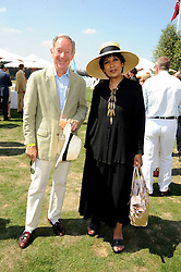 MICHAEL BUERK and MOIRA STEWART at the Cartier International Polo at Guards Polo Club, Windsor Great Park on 27th July 2008.<br /> <br /> NON EXCLUSIVE - WORLD RIGHTS