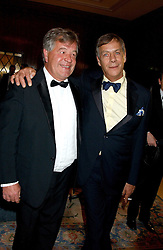 Left to right, SIR MICHAEL STOUTE and trainer HENRY CECIL at the Cartier Racing Awards held at the Four Seasons Hotel, Hamilton Place, London W1 on 16th November 2005.<br />