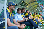 Jurgen Klopp trainer coach of Dorussia Dortmund during international friendly soccer match between WKS Slask Wroclaw and BVB Borussia Dortmund on Municipal Stadium in Wroclaw, Poland.<br /> <br /> Poland, Wroclaw, August 6, 2014<br /> <br /> Picture also available in RAW (NEF) or TIFF format on special request.<br /> <br /> For editorial use only. Any commercial or promotional use requires permission.<br /> <br /> Mandatory credit:<br /> Photo by © Adam Nurkiewicz / Mediasport