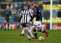 January 27, 2018 - London, United Kingdom - Rochdale's Andy Cannon.during FA Cup 4th Round match between Millwall against Rochdale  at The Den, London on 27 Jan 2018  (Credit Image: © Kieran Galvin/NurPhoto via ZUMA Press)