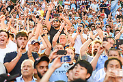 Manchester City fans celebrate winning the FA Community Shield match between Chelsea and Manchester City at Wembley Stadium, London, England on 5 August 2018. Picture by Stephen Wright.