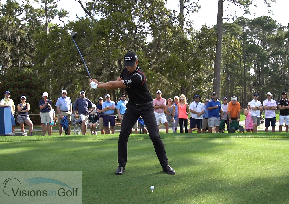Henrik Stenson<br /> High speed swing sequence March 2019<br /> Face on with driver<br /> Picture Credit: Mark Newcombe/visionsingolf.com