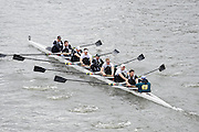 London, Great Britain.<br /> Master B Winner. Molesey/Crabtree, competing in the <br /> 2016 Veterans&rsquo; Head of the River Race, Reverse Championship Course Mortlake to Putney. River Thames. Sunday  20/03/2016<br /> <br /> [Mandatory Credit: Peter SPURRIER;Intersport images]