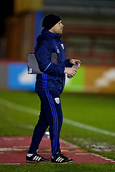 KIDDERMINSTER, ENGLAND - Tuesday, February 28, 2017: West Bromwich Albion's coach James Shan during the FA Premier League Cup Group G match against Liverpool at Aggborough Stadium. (Pic by David Rawcliffe/Propaganda)