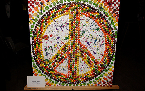 'Pieces of Peace,' by Maggie Carey of Oakwood High School, on display during the 2009 Dayton Literary Peace Prize dinner and awards presentation at the Schuster Center in downtown Dayton, Sunday November 08, 2009.