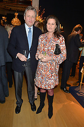 HANS VON GELSING and HENRIETTA, COUNTESS OF CALEDON at a party to celebrate the publication of Interiors For Living by Joanna Wood held at Christie's. 8 King Street, St.James's, London on 2nd March 2015.