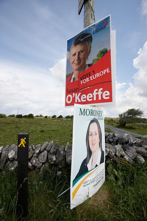 Burren landscape after the election, Ireland