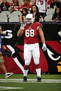 Arizona Cardinals tackle Jared Veldheer (68) looks on during pre game warmups at the 2014 NFL preseason football game against the Houston Texans on Saturday, Aug. 9, 2014 in Glendale, Ariz. The Cardinals won the game in a 32-0 shutout. ©Paul Anthony Spinelli