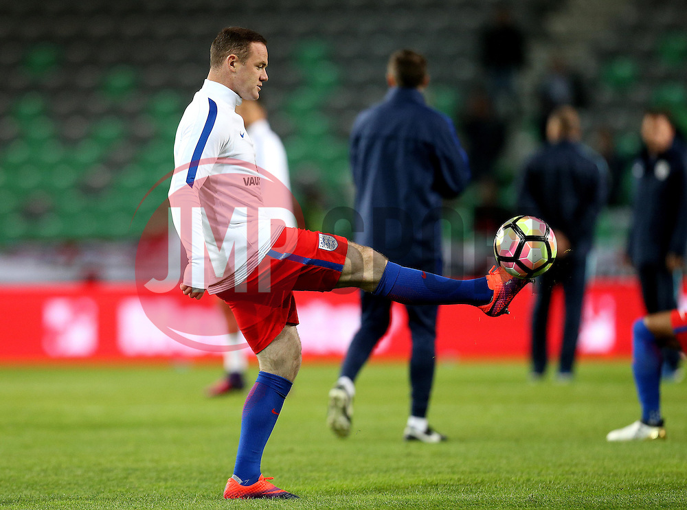 Wayne Rooney of England warms up ahead of starting on the bench for the World Cup Qualifier against Slovenia  - Mandatory by-line: Robbie Stephenson/JMP - 11/10/2016 - FOOTBALL - RSC Stozice - Ljubljana, England - Slovenia v England - World Cup European Qualifier