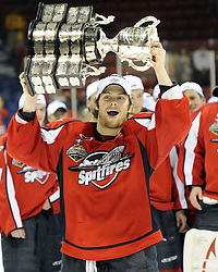Kenny Ryan and the Windsor Spitfires won the 2010 MasterCard Memorial Cup in Brandon, MB with a 9-1 win over the host Wheat Kings on Sunday May 23. Photo by Aaron Bell/CHL Images