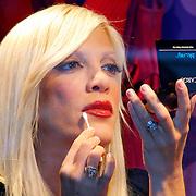 Tori Spelling Celebrates Q-Tips From Macy's Window In New York City