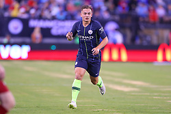 July 25, 2018 - East Rutherford, NJ, U.S. - EAST RUTHERFORD, NJ - JULY 25:  Manchester City midfielder Luke Bolton (74) during the first half of the International Champions Cup Soccer game between Liverpool and Manchester City on July 25, 2018 at Met Life Stadium in East Rutherford, NJ.  (Photo by Rich Graessle/Icon Sportswire) (Credit Image: © Rich Graessle/Icon SMI via ZUMA Press)