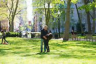PHILADELPHIA, PA. - APRIL 27:  Infante engagement shoot @ Rittenhouse Square April 27, 2013 in Philadelphia, Pennsylvania. (Photo by William Thomas Cain/Cain Images).http://www.loveweddingphotos.com.