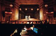 """Drottningholm Royal Castle. The Slottsteater (opera house). Rehearsal of Georg Friedrich Händel's opera """"Tamerlano""""."""