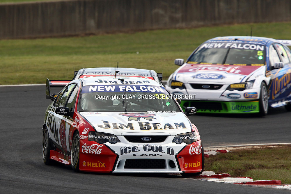 Will Davidson of Jim Beam Racing, winner of the V8 Supercar race at Eastern Creek Raceway, Western Sydney on Sunday 9th March 2008. Photo: Clay Cross/PHOTOSPORT