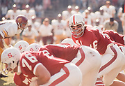 COLLEGE FOOTBALL: Stanford v USC, Nov 9 1974 at Stanford Stadium in Palo Alto, California. Mike Cordova #16.