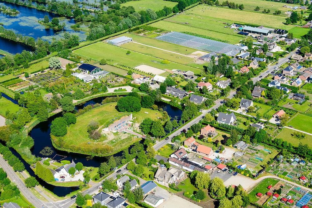 Nederland, Utrecht, Maarssen, 10-06-2015; Werk bij Maarsseveen, onderdeel Hollandse Waterlinie. Tegenwoordig C-fordt, broedplaats voor 'kunst, cultuur en recreatie'. <br /> Former fort, part of the Hollandse Waterlinie (Dutch Water defense line).<br /> luchtfoto (toeslag op standard tarieven);<br /> aerial photo (additional fee required);<br /> copyright foto/photo Siebe Swart