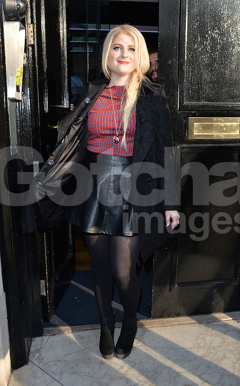 Singer Meghan Trainor visits Radio 2 and Kiss FM in central London, UK. 23/01/2015<br />