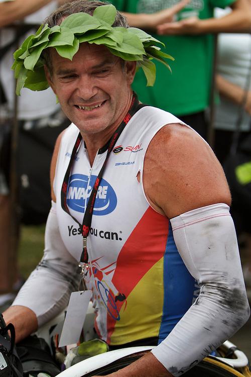 Falmouth Road Race, wheelchair winner Krige Schabort